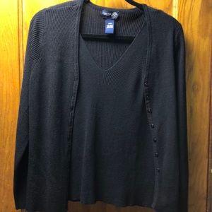 Venezia Jeans Women's Black Sweater and Camisole